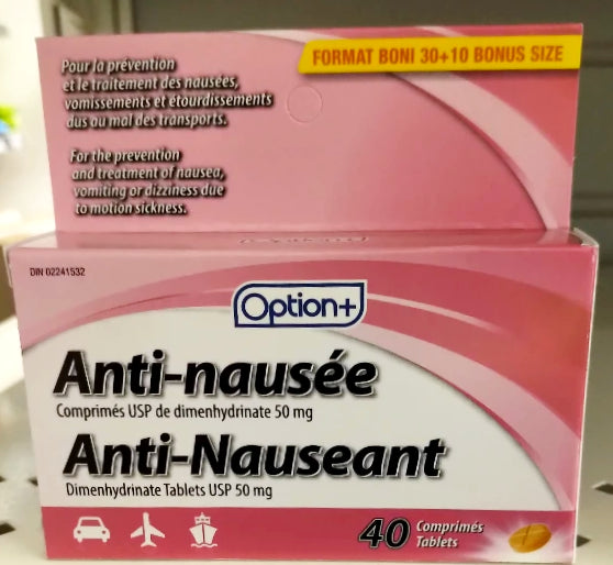 OPTION+ ANTI-NAUSEANT 30+10 TABLETS