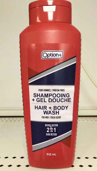 OPTION+ HAIR AND BODY WASH FOR MEN 2IN1