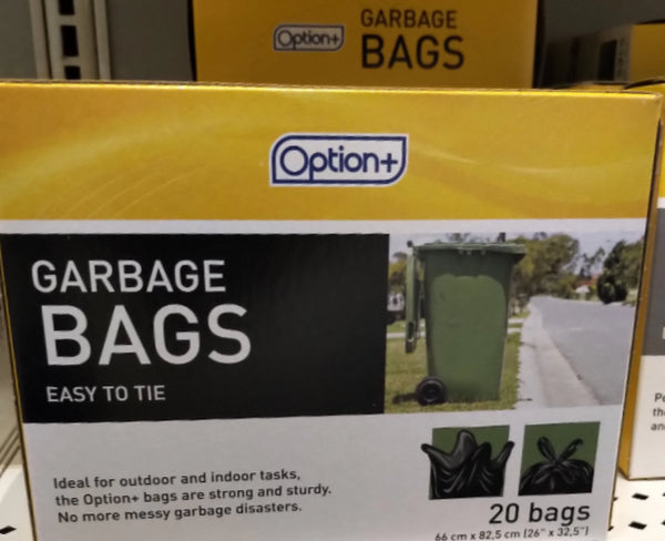 OPTION+ BAGS GARBAGE BLACK
