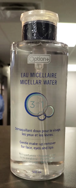 OPTION+ 3IN1 MICELLAR WATER 500ML