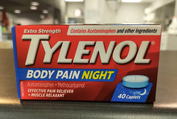 TYLENOL BODY PAIN NIGHT EXTRA STRENGTH 40'S