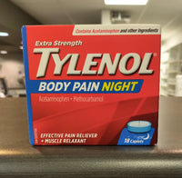 TYLENOL BODY PAIN NIGHT EXTRA STRENGTH 18'S