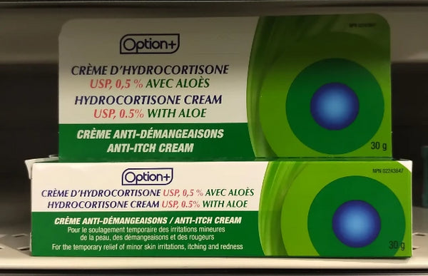 OPTION+ CREAM HYDROCORTIZONE ALOE