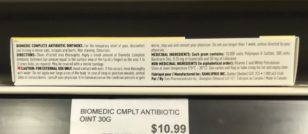 BIOMEDIC CMPLT ANTIBIOTIC OINT 30G