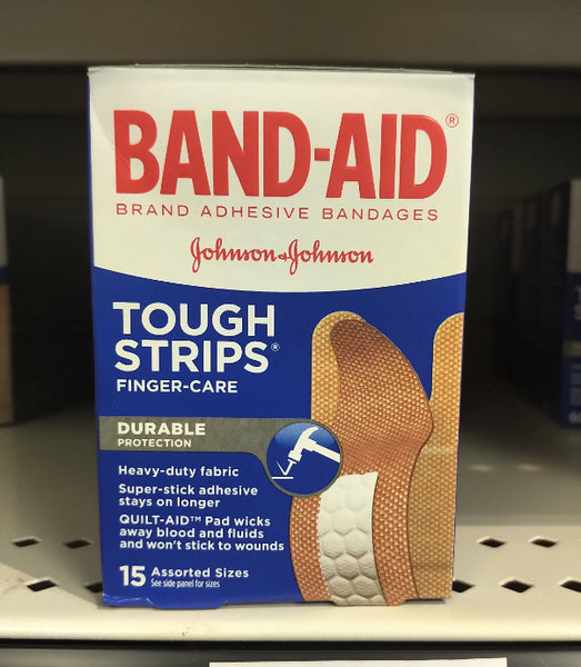 J&J BAND-AID FINGER TOUGH STR 15S