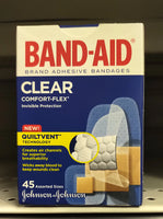 J&J BAND-AID CLEAR ASST 45S