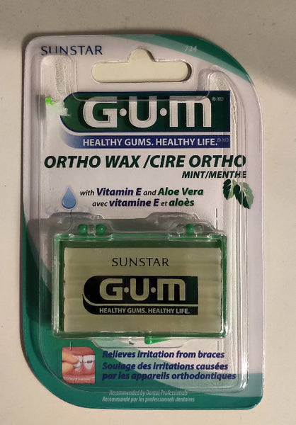 GUM ORTHODONTIC WAX WVITE ALOE 724