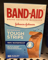 J&J BAND-AID TOUGH STRIP WATERPROOF20S