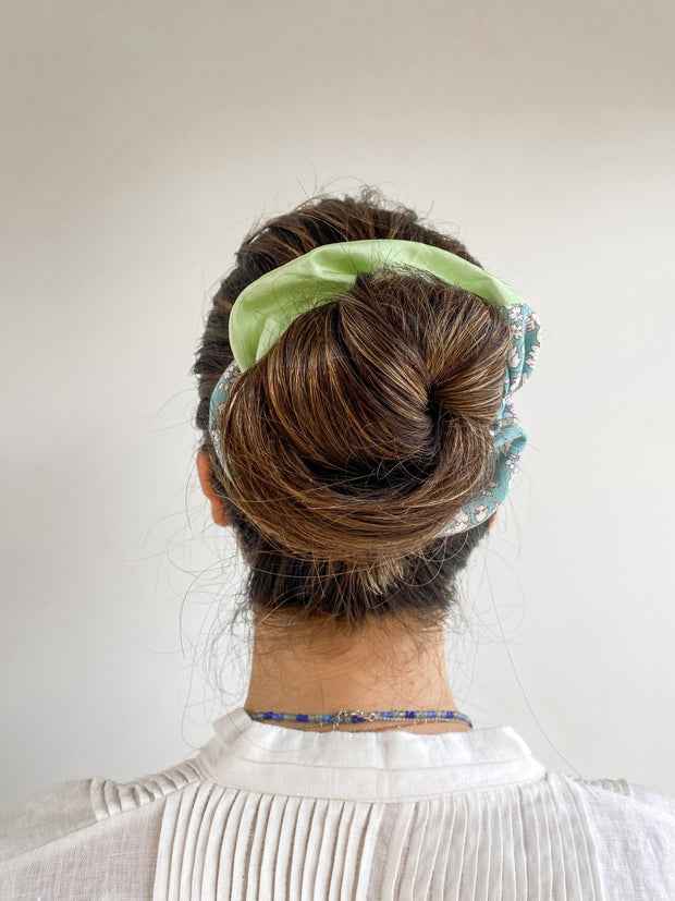 Pistachio Fruit | Two-Tone Scrunchie