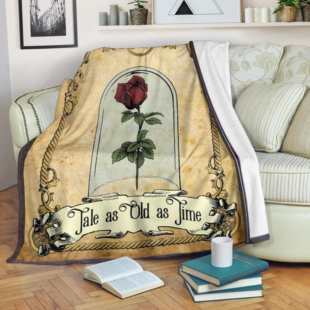 tale as old as time beauty and the beast fleece blanket