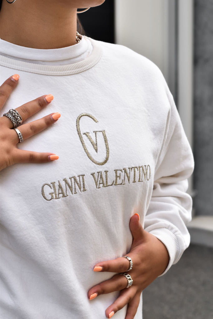 Gianni Valentino Sweatshirt with Gold Embroidery *M*