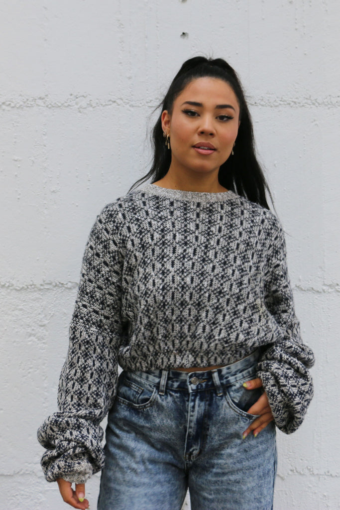 Vintage Cropped Sweater M