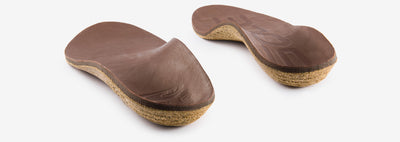 A pair of SOLE Casual Thick Eco Cork & Leather Orthopaedic Insoles