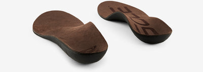 Pair of SOLE Lifestyle Medium Vegan Nubuck Leather Orthopaedic Insoles