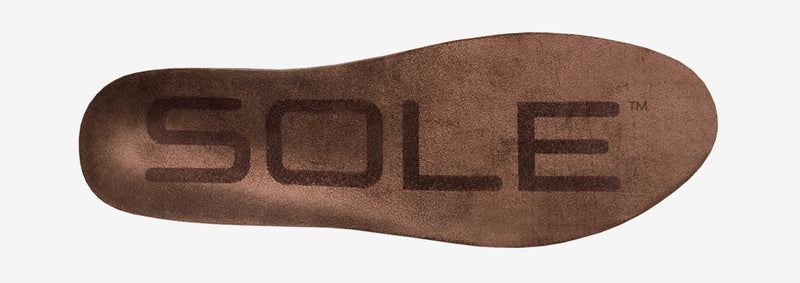 SOLE Lifestyle Medium Vegan Nubuck Leather Orthopaedic Insole – side view