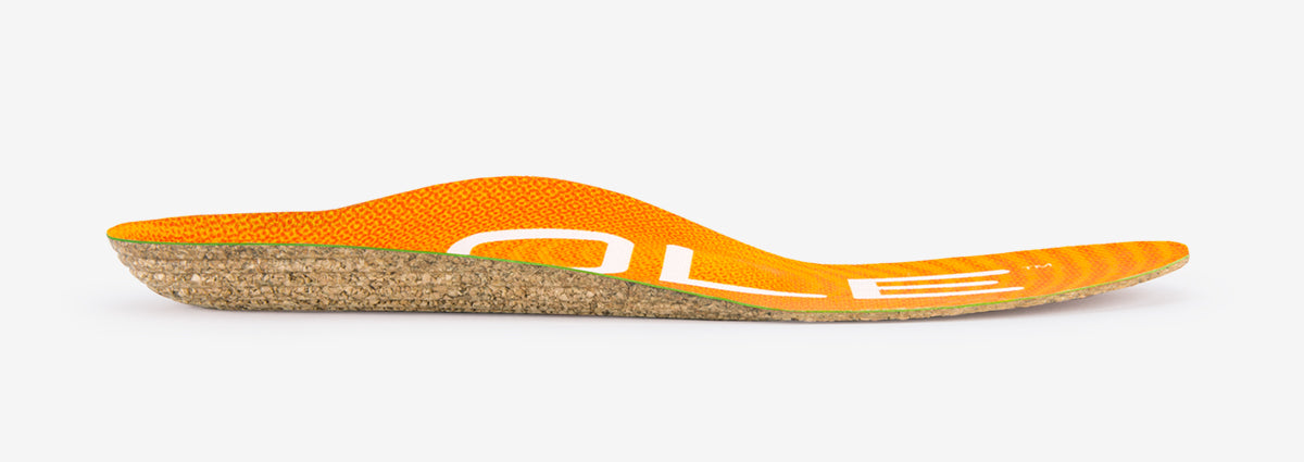 SOLE Active Thin Orthotic Cork Insole with Met Pad