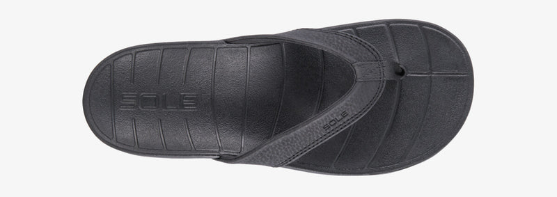 SOLE Women's Baja Flip Orthotic Sandal Black