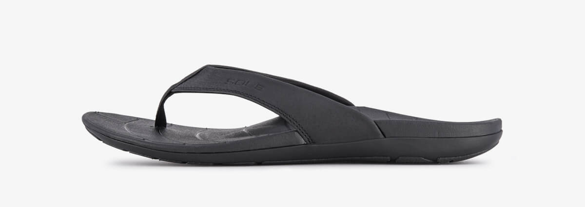 SOLE Men's Baja Flip Orthotic Sandal Black