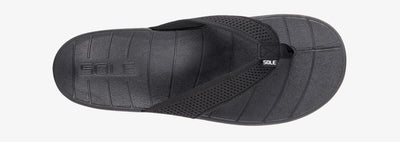 SOLE Men's Costa Flip Orthotic Sandal Black