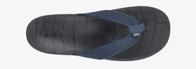SOLE Men's Costa Flip Orthotic Sandal Navy