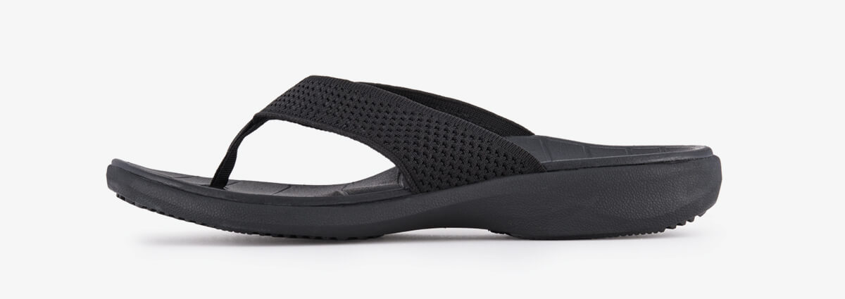 SOLE Men's Del Mar Sport Flip Orthotic Sandal Black