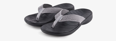 SOLE Women's Del Mar Sport Flip Orthotic Sandal Grey