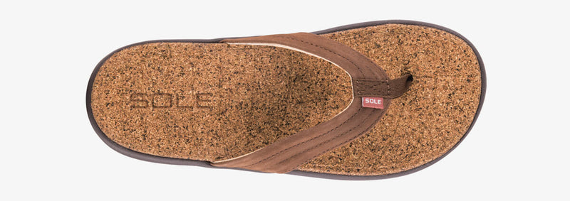 SOLE Women's Monterey Casual Flip Orthotic Cork Sandal