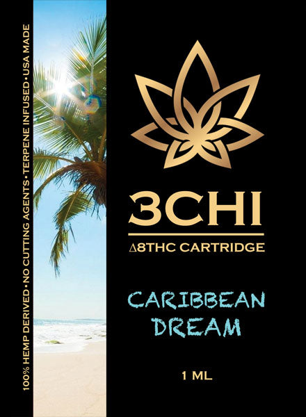 3Chi Delta 8 THC Vape Cartridge Caribbean Dream - Triangle Hemp Wellness