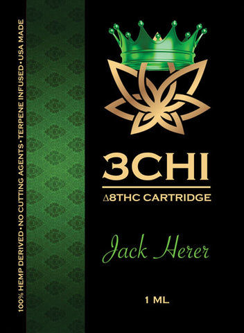 3 CHI Delta 8 Jack Herer 1ml Cartridge - Triangle Hemp Wellness