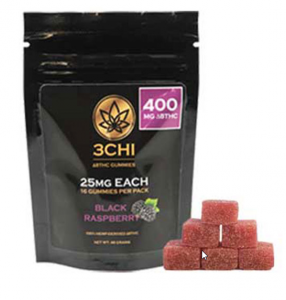 3 CHI Delta 8 THC Gummies BLACK RASPBERRY 400mg (16 pieces) - Triangle Hemp Wellness