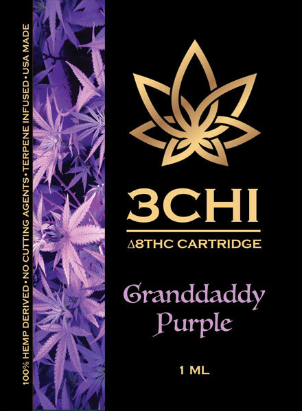 Grandaddy Purple Delta 8 1ml Vape Cartridge 1000mg - Triangle Hemp Wellness