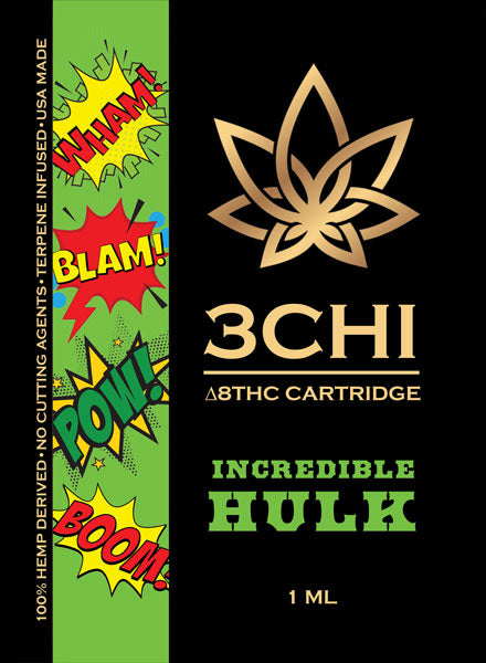 Incredible Hulk Delta 8 1ml Vape Cartridge 1000mg - Triangle Hemp Wellness
