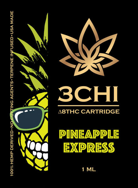 Pineapple Express Delta 8-THC 1ml Vape Cartridge 1000mg - Triangle Hemp Wellness