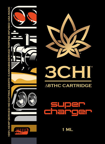3 CHI Delta 8 THC Vape Cartridge Super Charger (CDT) 1 ML - Triangle Hemp Wellness
