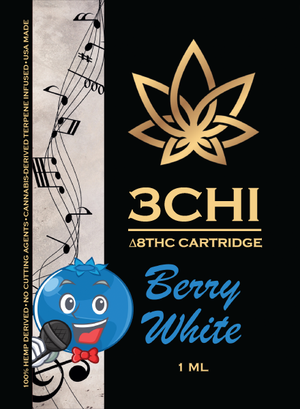 3CHI Delta 8 Berry White (CDT)-1ML/1000MG - Triangle Hemp Wellness