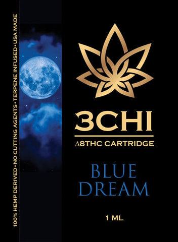 Blue Dream Delta 8 1ml. Vape Cartridge 1000mg - Triangle Hemp Wellness