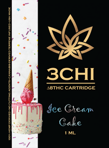 3 CHI Delta 8 Ice Cream Cake 1ML/1000MG - Triangle Hemp Wellness