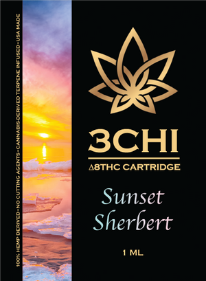 3CHI Sunset Sherbet (CDT) Delta 8 1 ML - Triangle Hemp Wellness