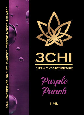3Chi Delta 8 Vape Cartridge | Purple Punch - Triangle Hemp Wellness