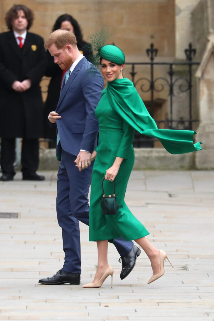 Meghan Markle in all green