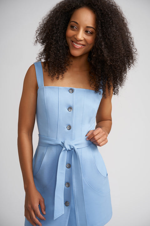 Taylor Button Front Mini Dress