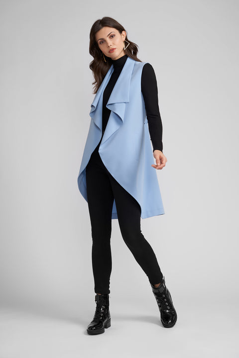 Morgan Duster Vest with Draped Collar
