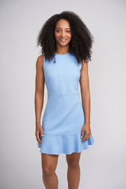 Rhonda Dress with Flounce Hem