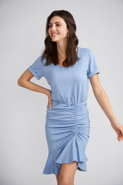 Miller Dress with Ruched Skirt