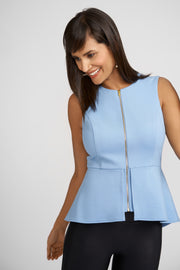 Dylan Peplum Top With Zipper