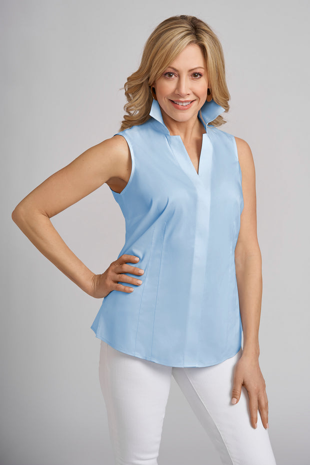 Caroline Sleeveless No Iron Blouse