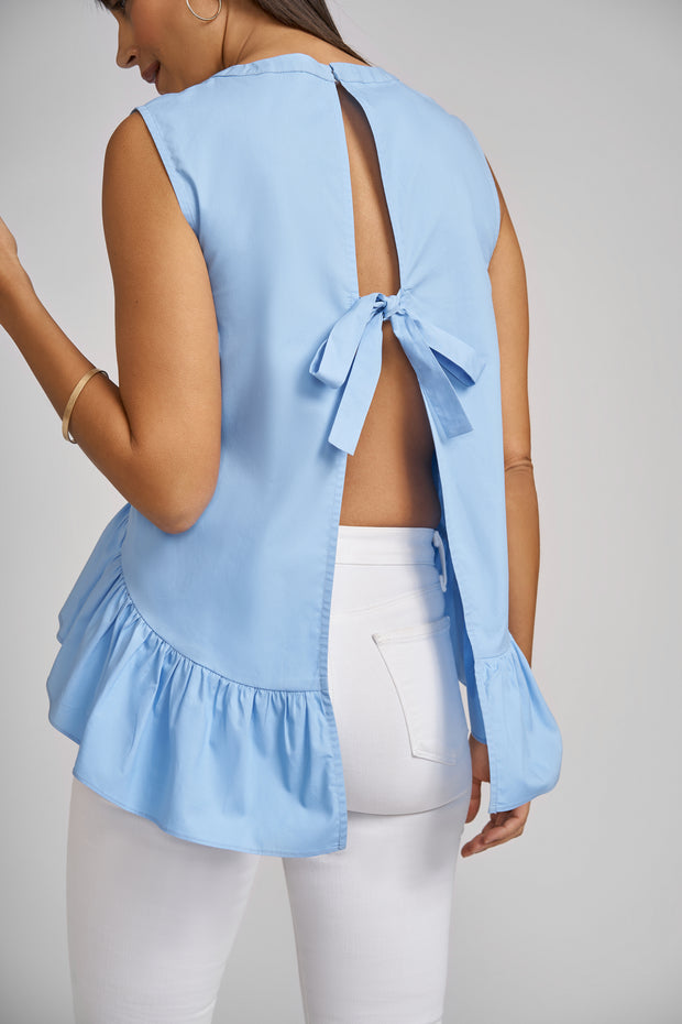 Grace Sleeveless Top with Back Bow