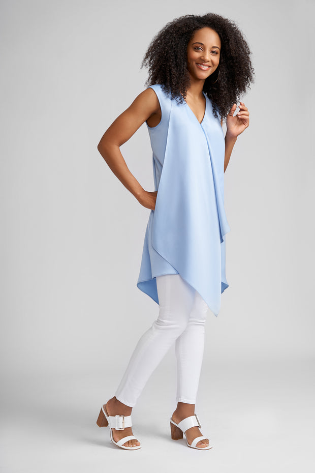 Jamie Sleeveless Draped Tunic