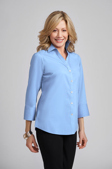 Madie 3/4 Sleeve No Iron Blouse