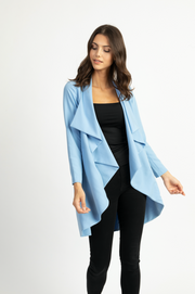 Lisa Duster With Draped Collar
